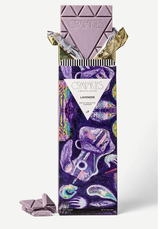 Comparte's Lavender Bar White Chocolate Lavender