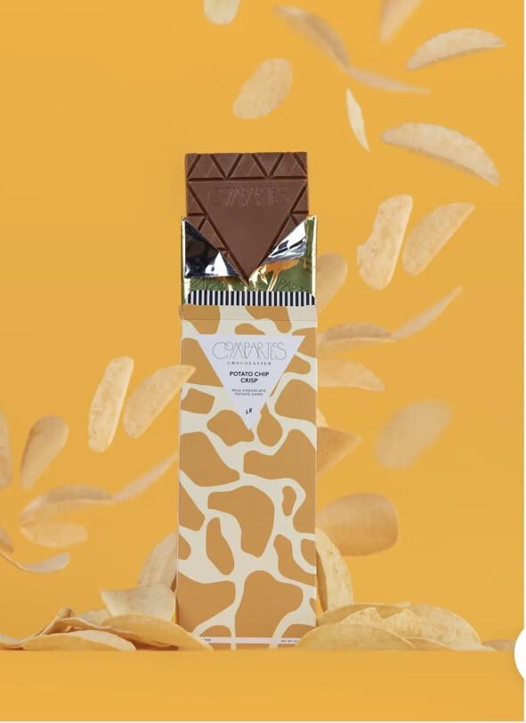 Comparte's Potato Chip Crisp Milk Chocolate Potato Chips