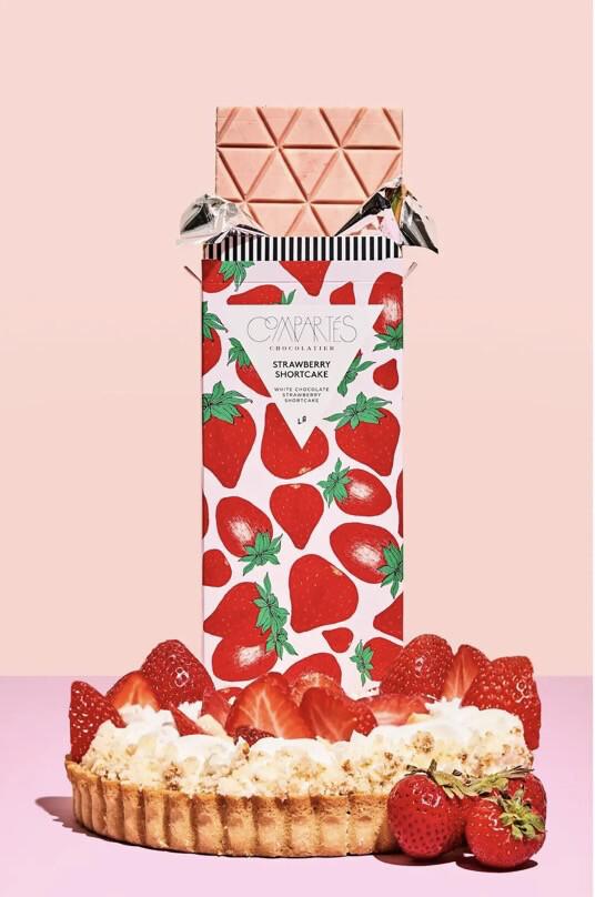 Comparte's Strawberry Shortcake Wht Chocolate Strawberry Shortcake