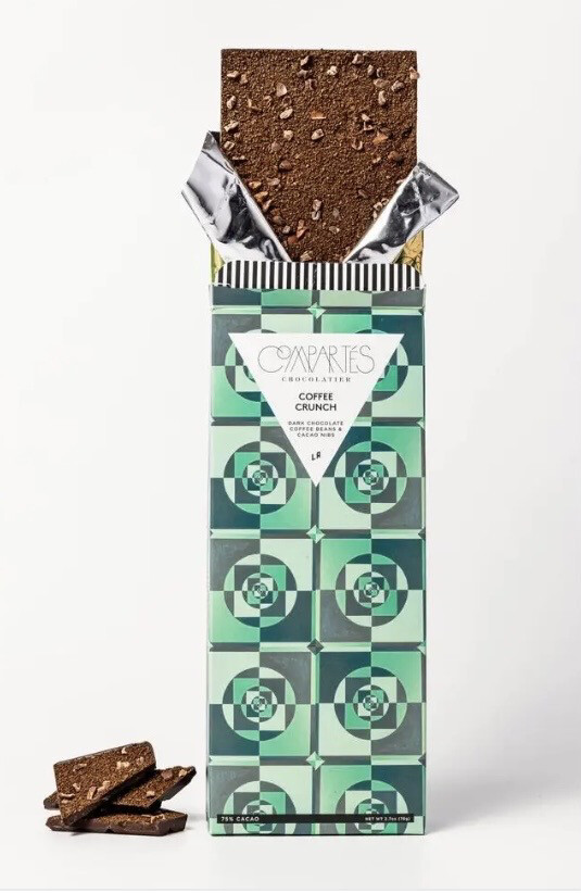 Comparte's Coffee Crunch Dark Chocolate Coffee Beans & Cacao Nibs