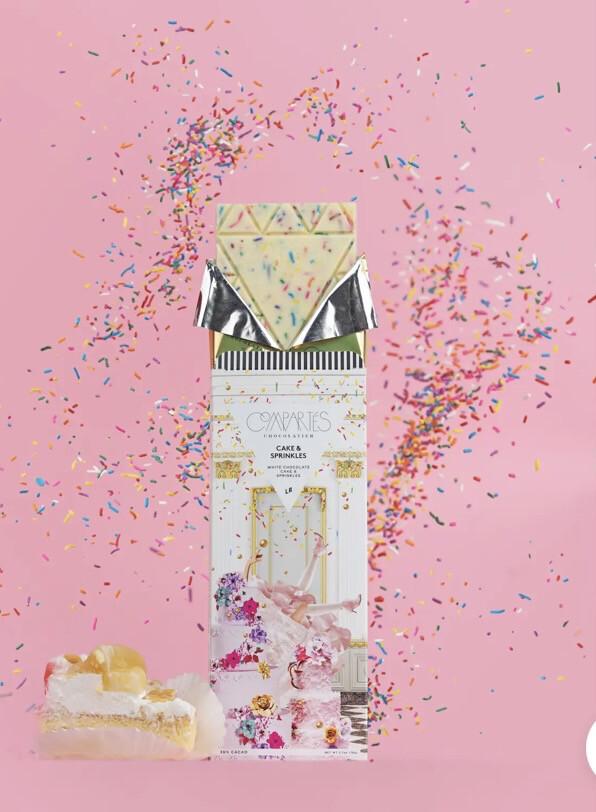 Comparte's Cake & Sprinkles White Chocolate Cake \ Sprinkles