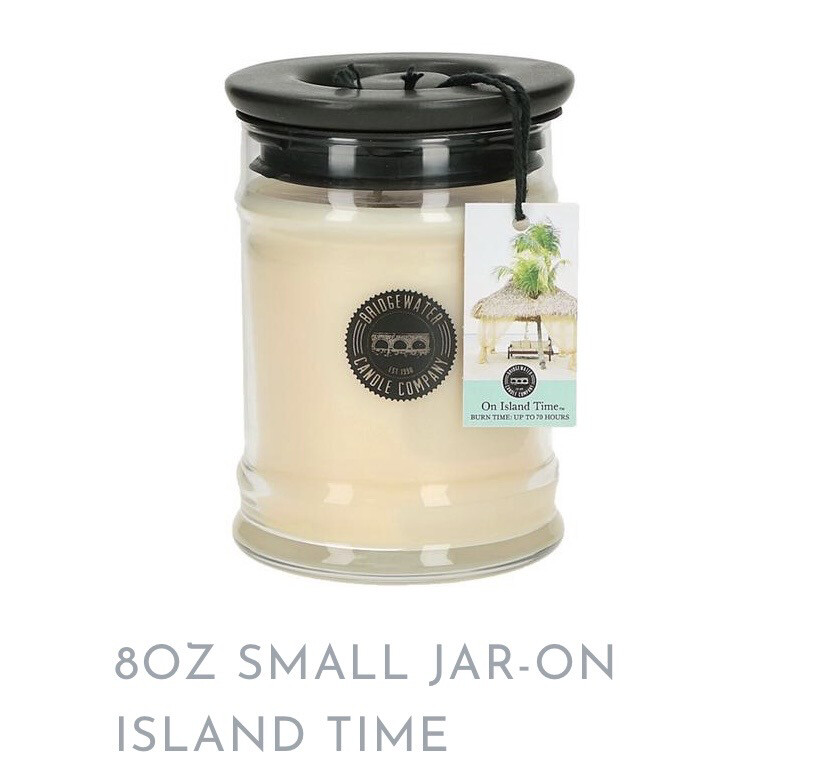 BW On Island Time Candle Sm