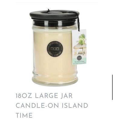 BW On Island Time Candle Lg