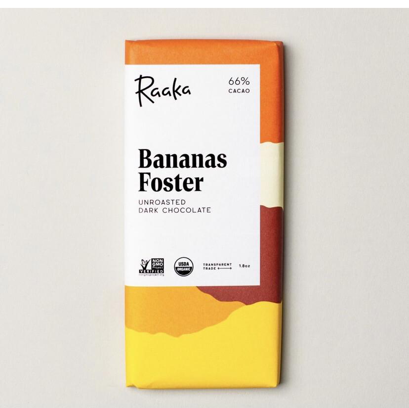 Raaka Banana Foster Unroasted Dark Chocolate