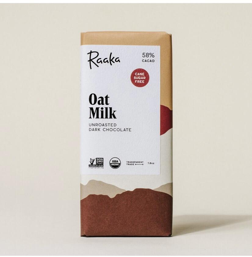 Raaka Oat Milk Bar Unroasted Dark Chocolate