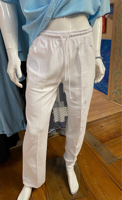 Sea Crinkle Pant S White