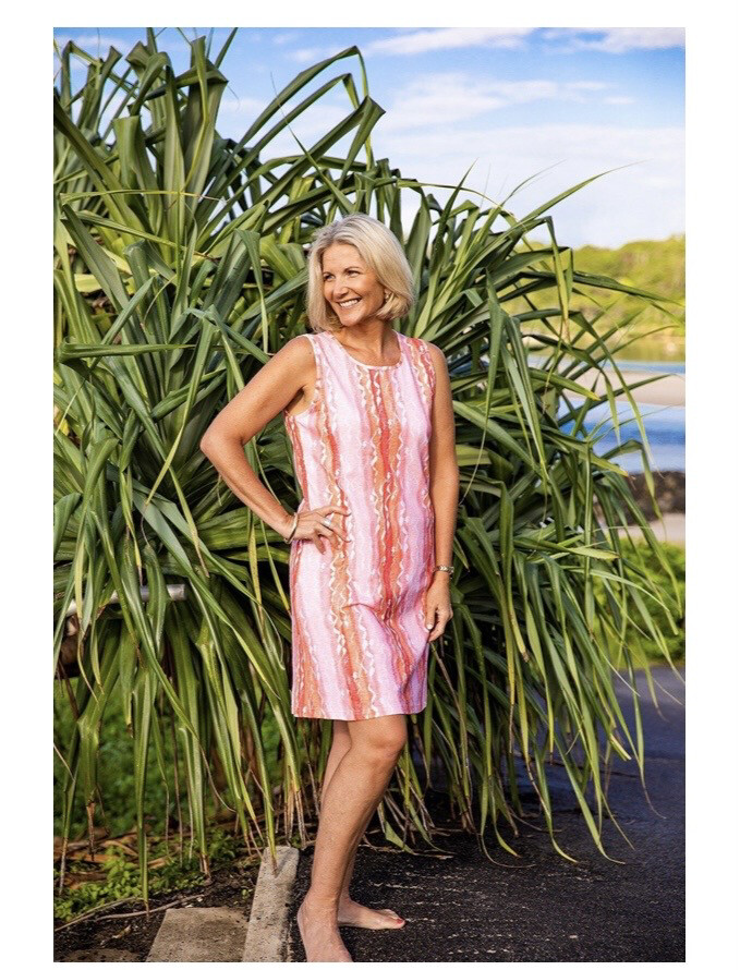 WIW Ribbons Dress Coral XS