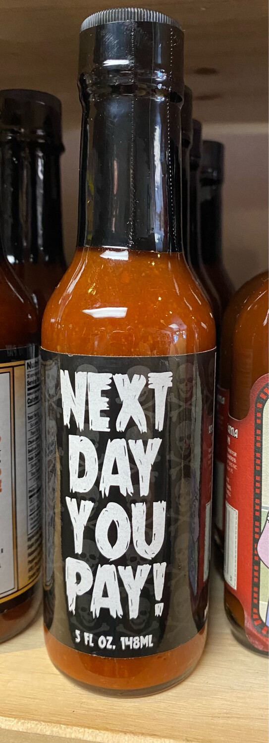Next Day You Pay Hot Sauce