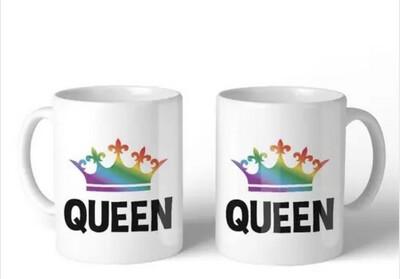 Queen Queen Mug Set
