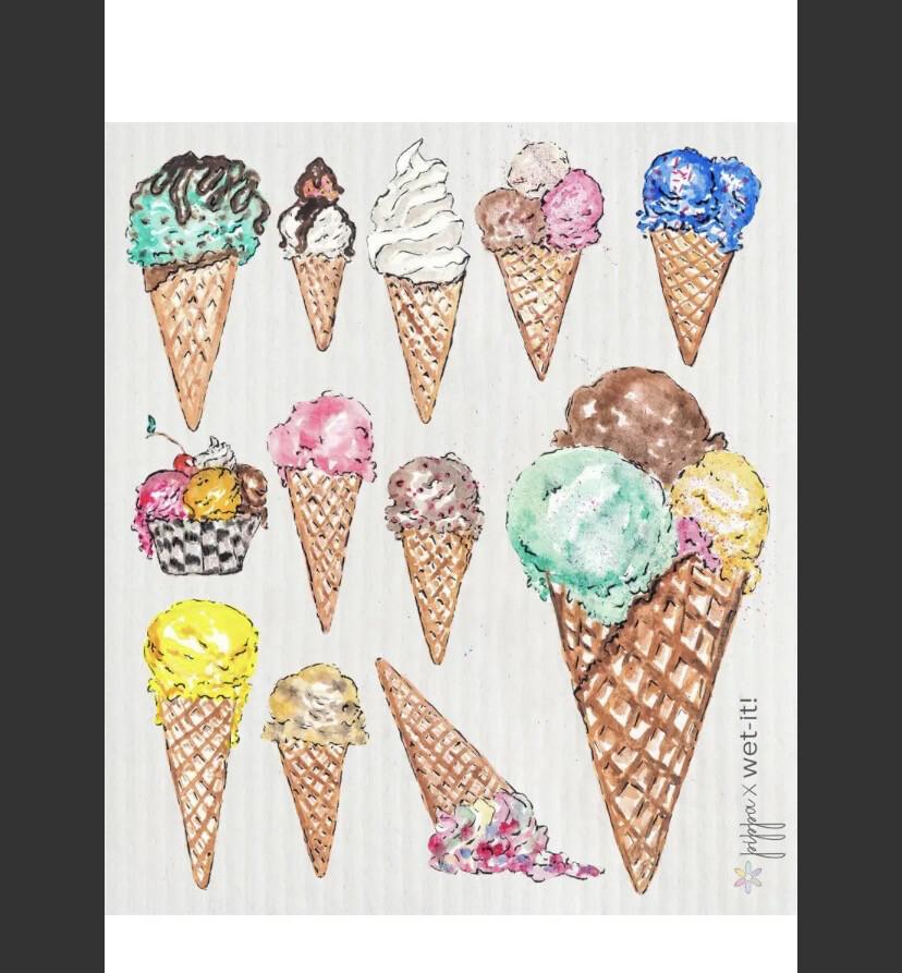 Wet It Ice Cream Cone