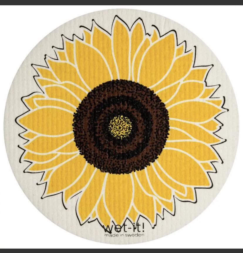 Wet It Lg Circle Sunflower