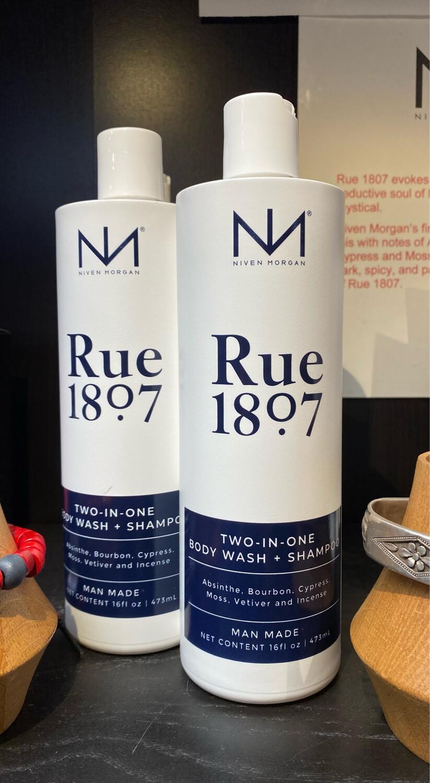 Niven Morgan Rue 1807 Two In One Men's Body Wash And Shampoo  16 oz