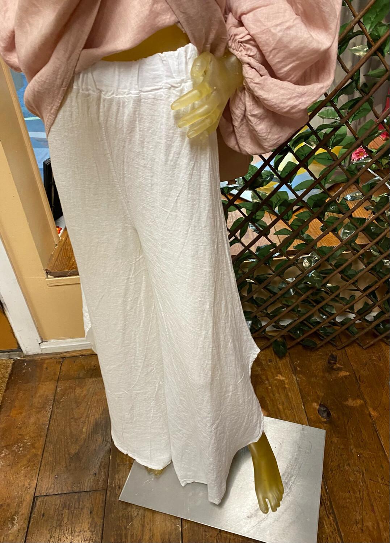 Suzy D Sahara Linen Pant White M