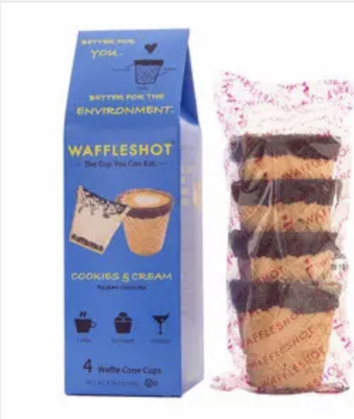 Waffleshot Cookies & Cream The Cup You Can Eat