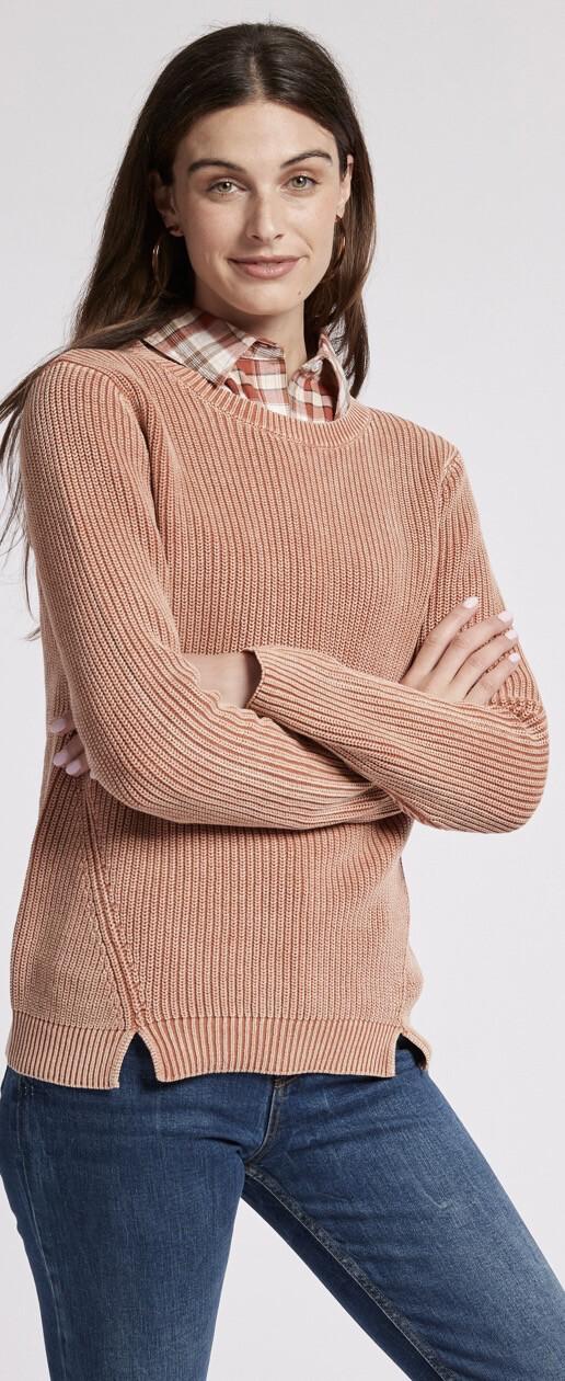 T Boe Mineral Wash Sweater Brick XL