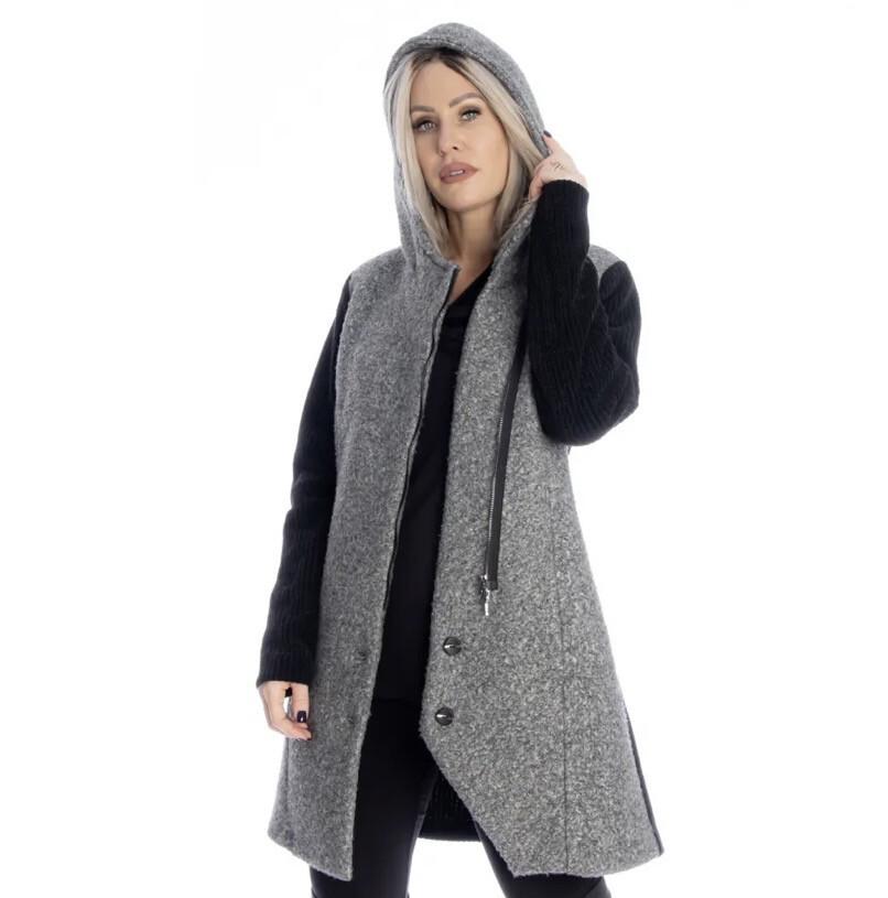 M Tyler LS Black Grey Coat M