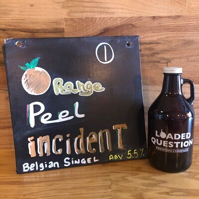 Orange Peel Incident, 5.5% - Growler 32 oz.
