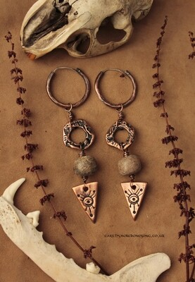 Eyes for Seers earrings with Fossilised Mammoth Bone
