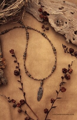 Becky Falls Fern Necklace - Andalusite