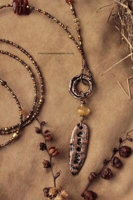 Sunshine and Hope Nymph Speak Stick Necklace