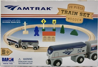 Amtrak 20 pc. Wooden Railway Set