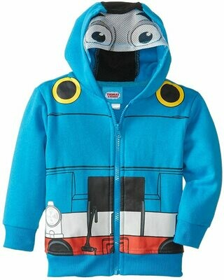 Hoodie - Thomas Full Zip (blue / engine front) - 4T