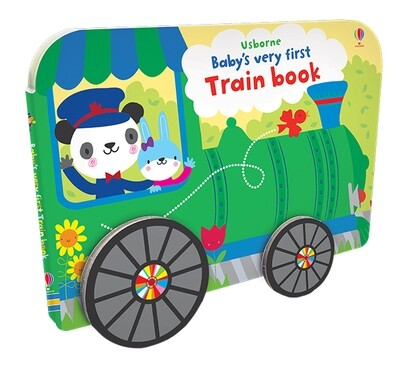 Baby's First Train Book (w/Wheels) - BB