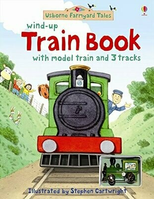 Wind-up Train Book w/Toy - HC