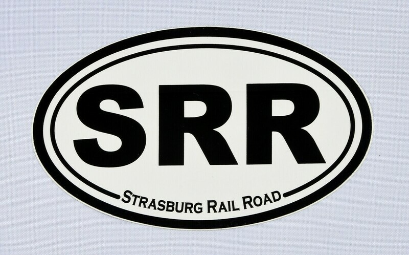 Sticker - SRR Oval B&W