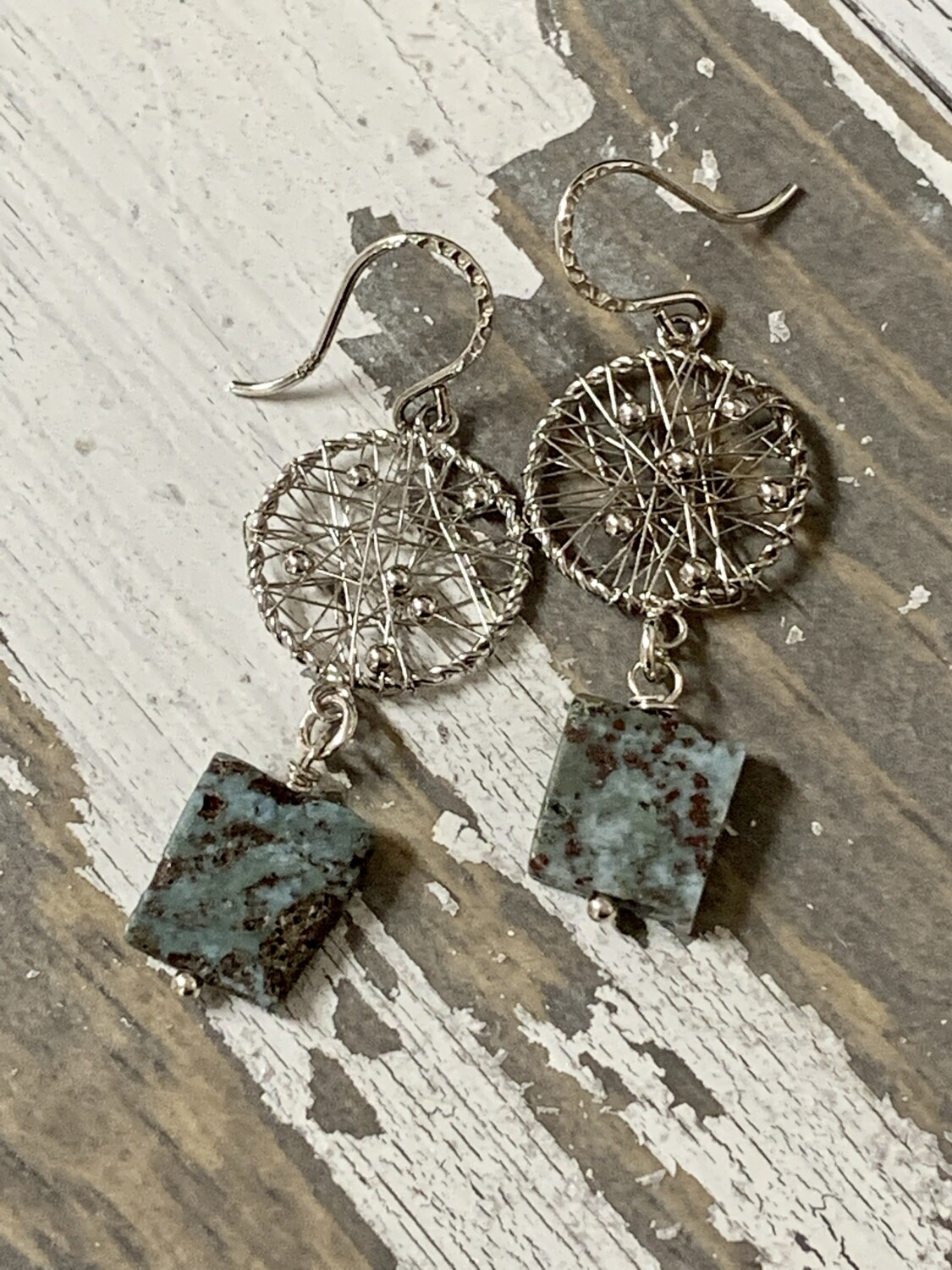 Larimar SS Earrings