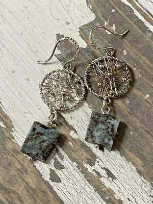 Larimar SS Earrings