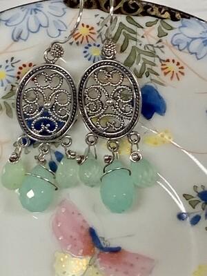 Sterling & Peruvian Chalcedony Earrings