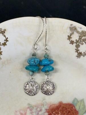 Sleeping Beauty & Sand Dollar SS Earrings