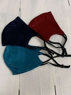 Silk Face Masks w/pocket