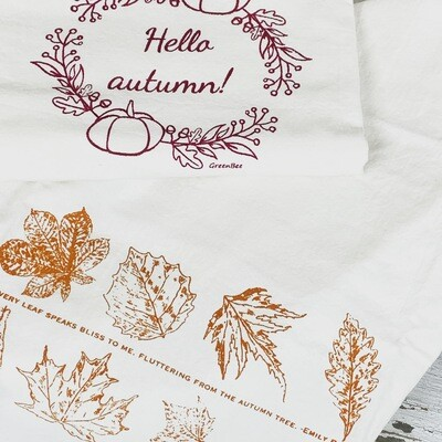 Autumn Flour Sack Towels