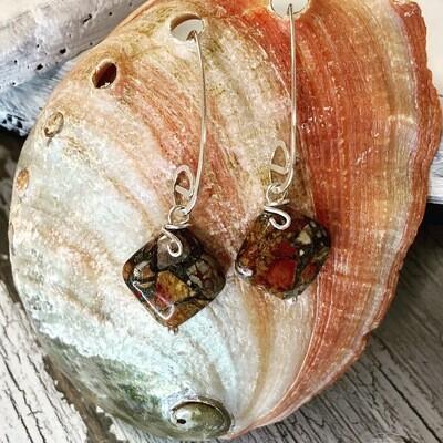 Red Creek Jasper Sterling Earrings