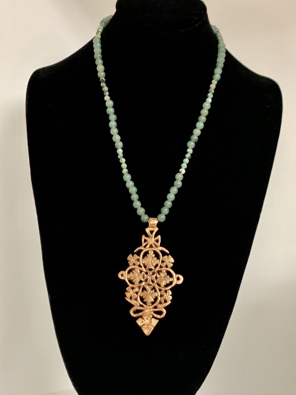 Aventurine/Jasper/Copper Necklace