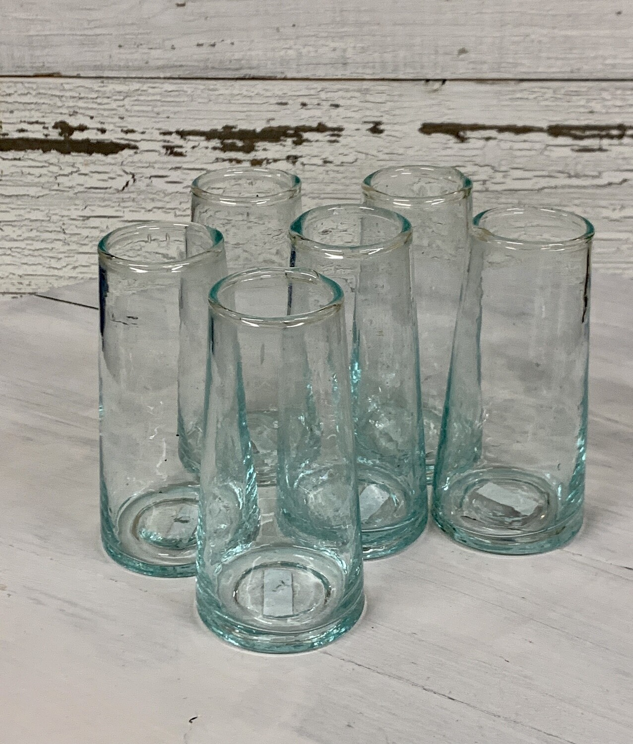 Moroccan Recycled Glass Champagne Glasses