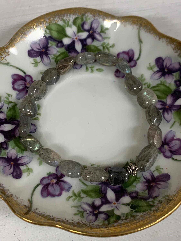 Labradorite Tumbled Stone Stretch Bracelet