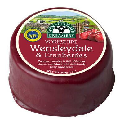 200g Wensleydale & Cranberry Cheese