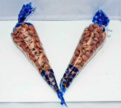 Roasted Almonds - Two(2)  6oz Cones