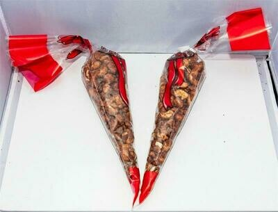 Roasted Cashews - Two 6oz Cones