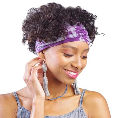 Plum Shibori Wrapsody Wide Headband