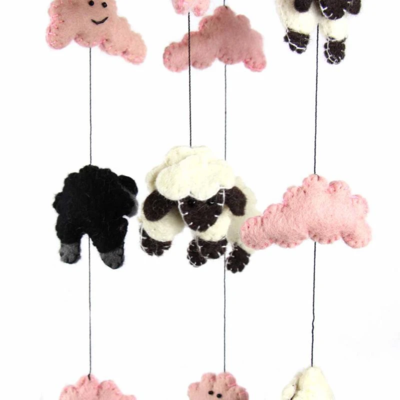 Pink Counting Sheep Moblie GLG2324