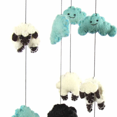 Blue Counting Sheep Mobile