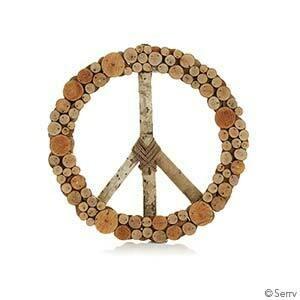 Layered Peace Wreath 74354
