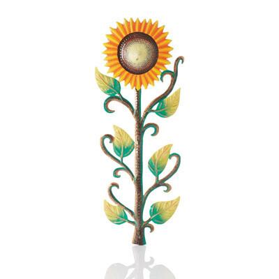 Large Sunflower Cut Metal Wall Art