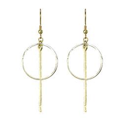 Bar Hoop Silver/Gold Earrings
