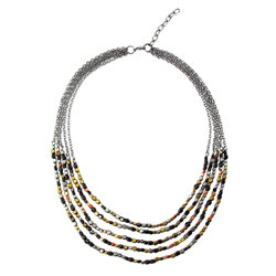 Ombre Mixed Metal Tiered Necklace
