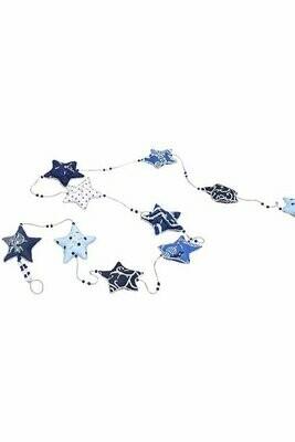 Embroidered Star Garland